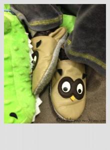 chaussons bébé cuir souple hibou a pas de loulous