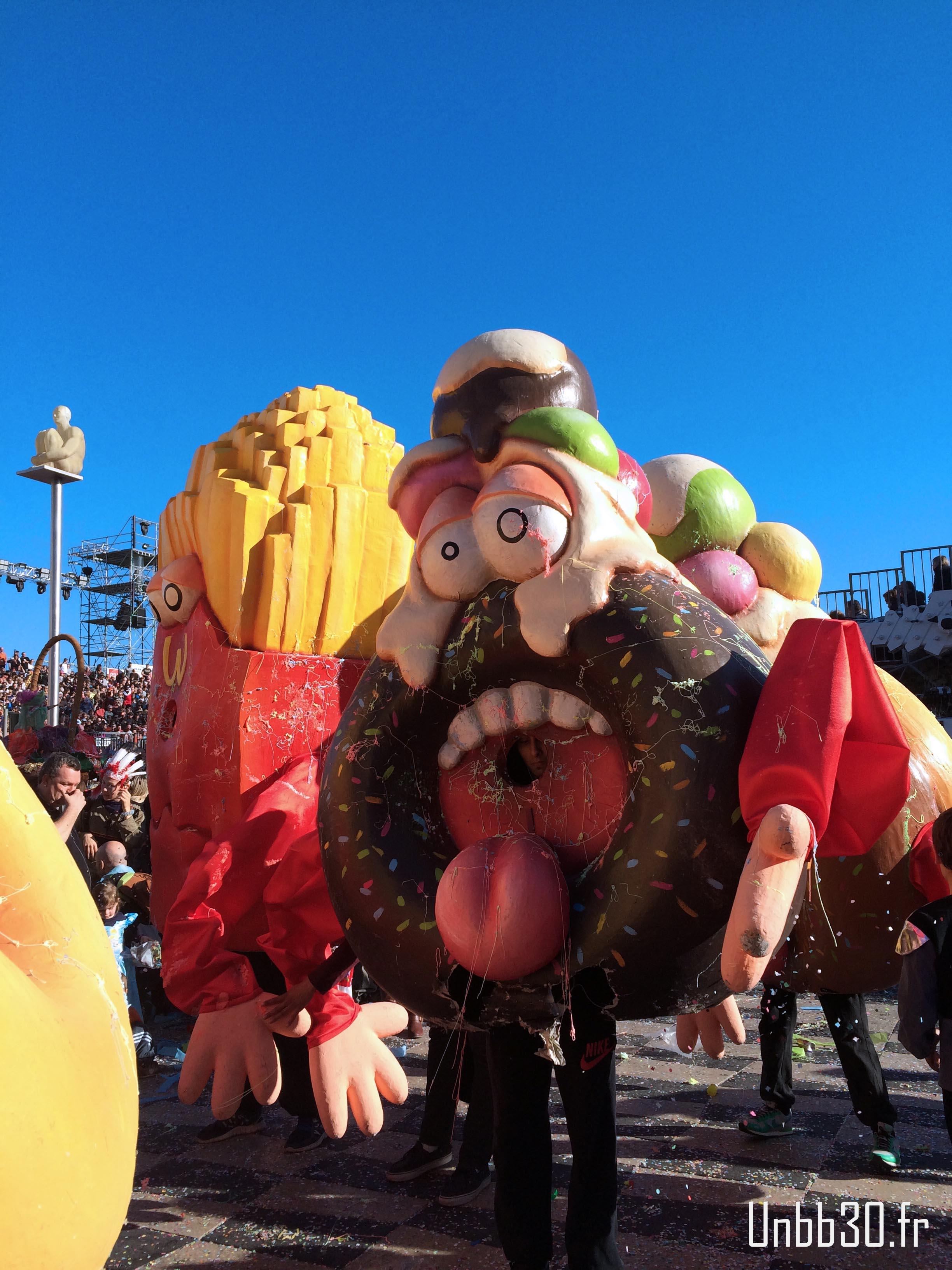 grosse tête malbouffe carnaval de nice