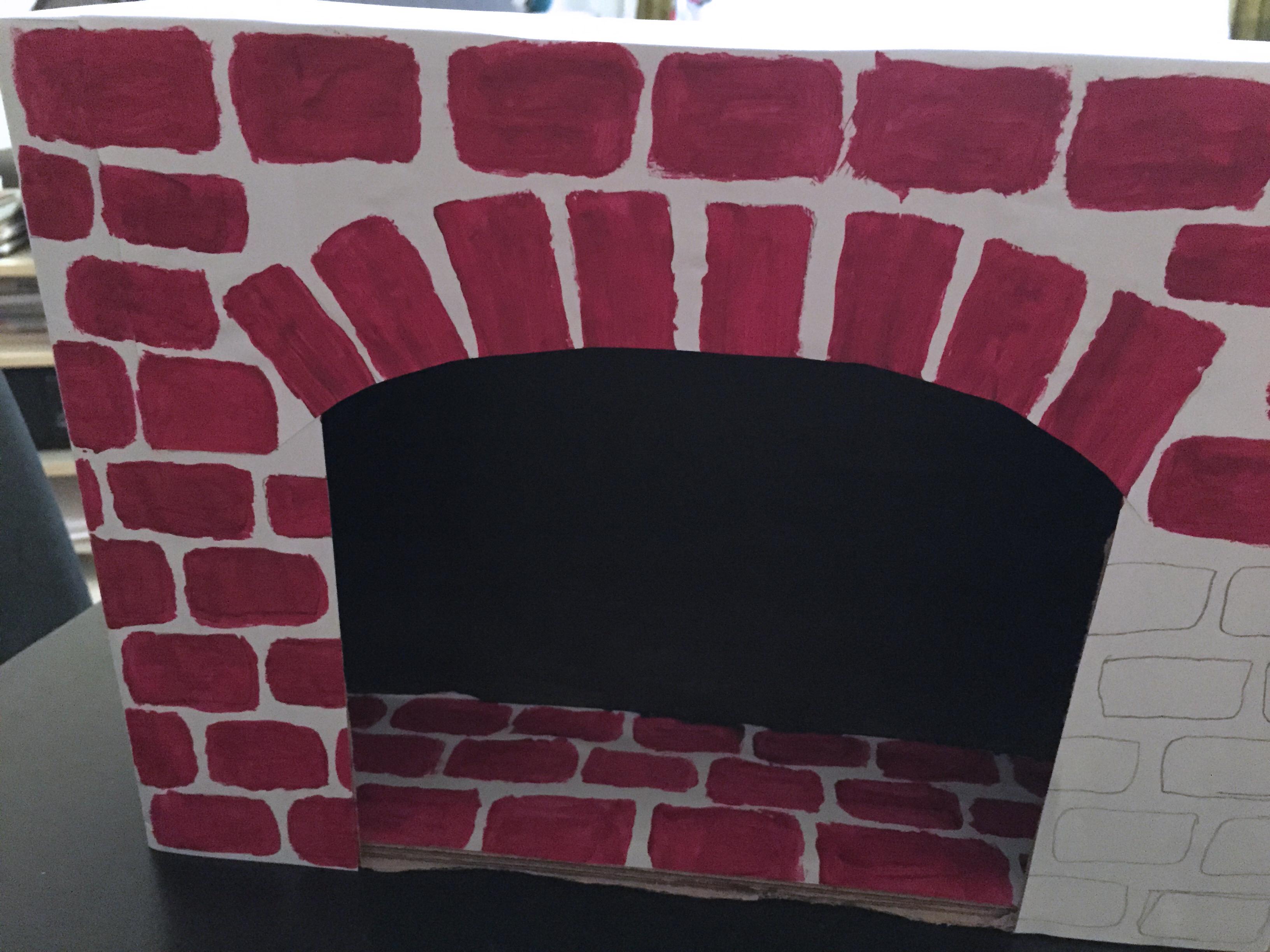 chemine noel en carton affordable chemine de nol en carton tuto gratuit diy with chemine noel. Black Bedroom Furniture Sets. Home Design Ideas