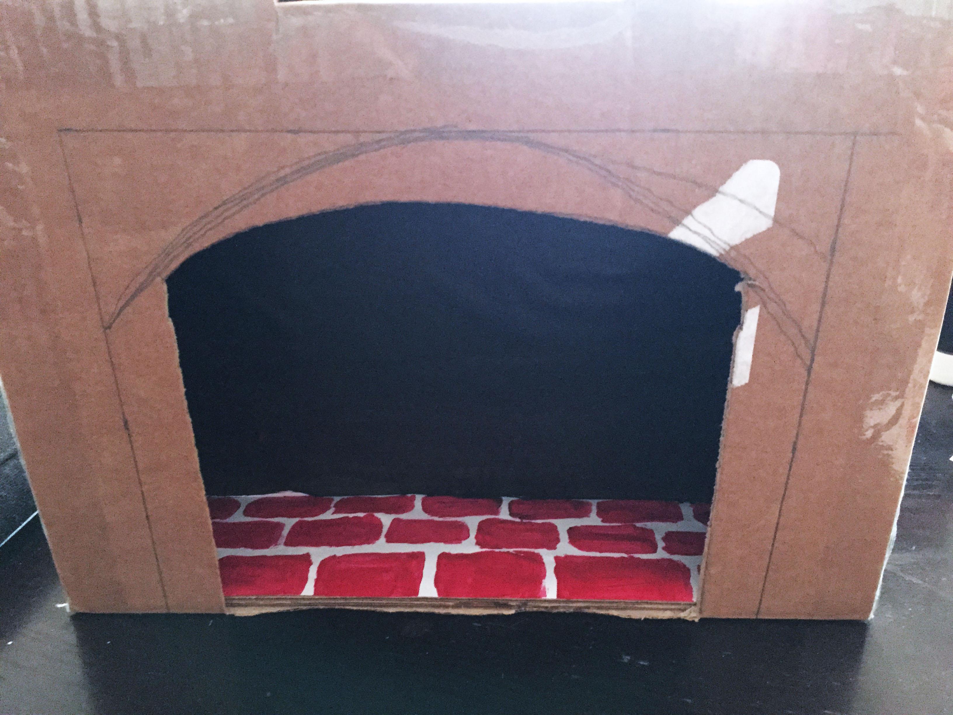 cheminée carton diy 3