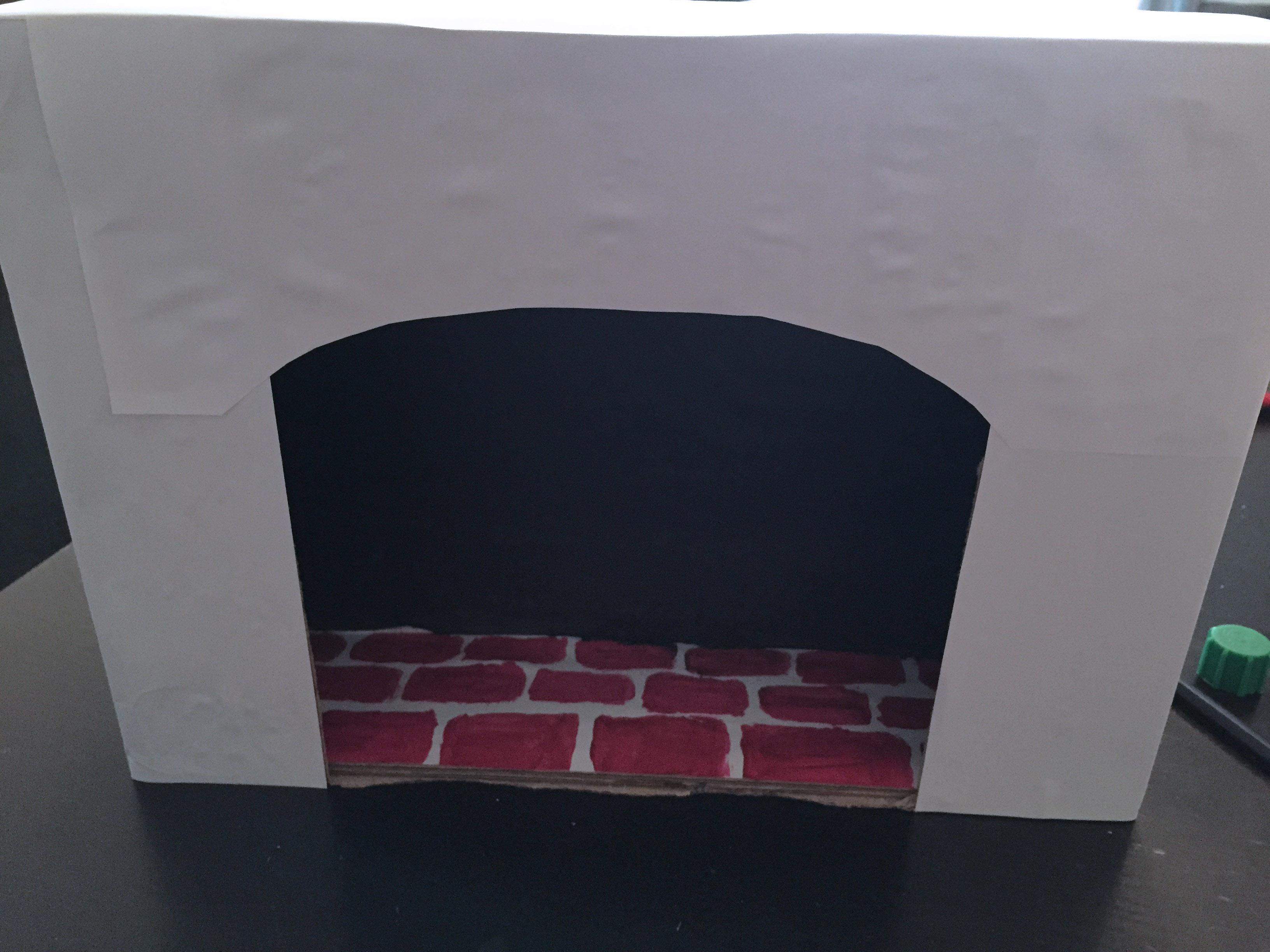 cheminée carton diy 4